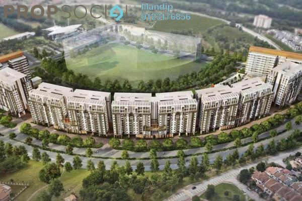 For Sale Condominium at Radia Residences, Bukit Jelutong Freehold Semi Furnished 1R/1B 487k