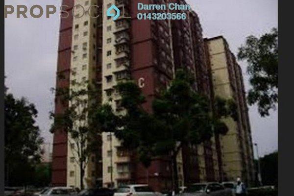 For Rent Apartment at Cemara Apartment, Bandar Sri Permaisuri Leasehold Unfurnished 3R/2B 1.3k