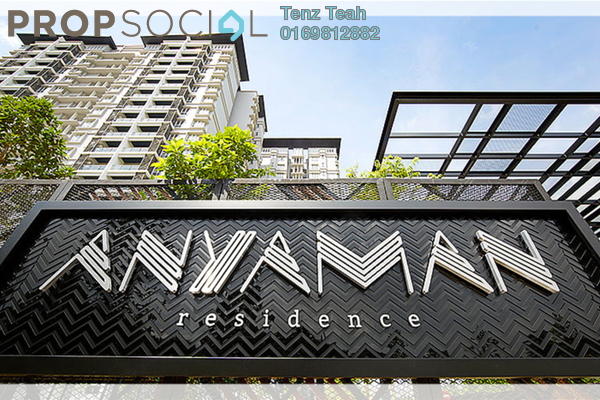For Rent Condominium at Anyaman Residence, Bandar Tasik Selatan Freehold Semi Furnished 3R/2B 1.4k
