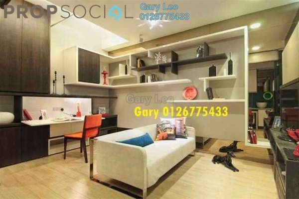 For Rent Condominium at VERVE Suites, Mont Kiara Freehold Fully Furnished 0R/1B 2.5k