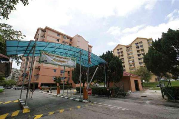 For Rent Condominium at Brem Park, Kuchai Lama Leasehold Semi Furnished 3R/2B 1.2k