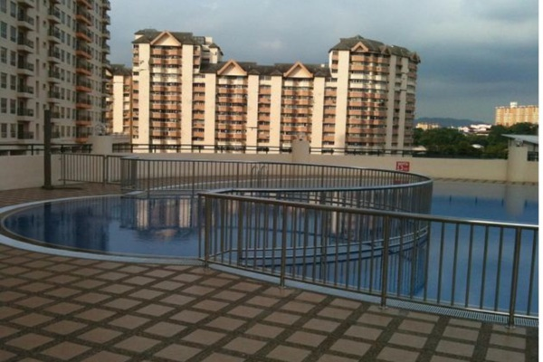 For Rent Condominium at Koi Tropika, Puchong Leasehold Semi Furnished 2R/1B 1k