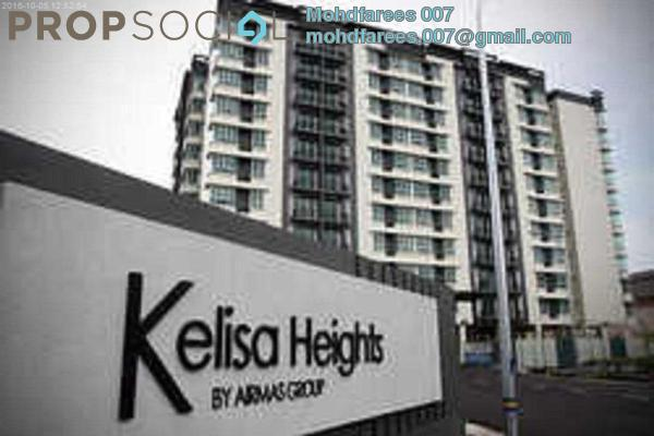 For Rent Condominium at Kelisa Heights, Seberang Jaya Freehold Semi Furnished 3R/2B 1.1k