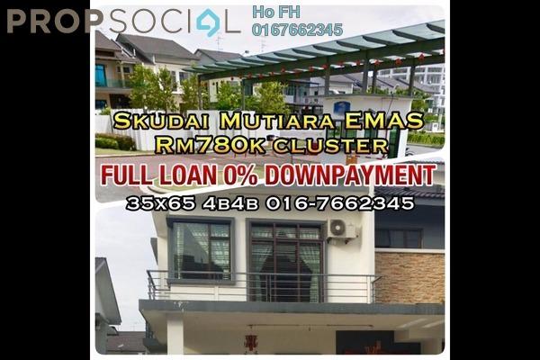 For Sale Condominium at Taman Mutiara Mas, Skudai Freehold Semi Furnished 4R/3B 780k