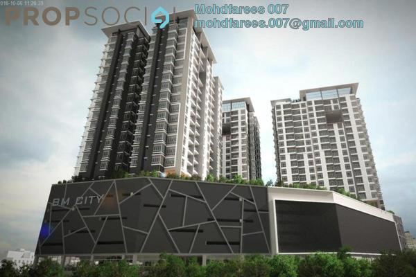 For Rent Condominium at BM City Mall, Bukit Mertajam Freehold Unfurnished 2R/2B 1k