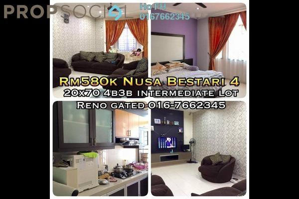 For Sale Terrace at Taman Nusa Bestari 1, Iskandar Puteri (Nusajaya) Freehold Semi Furnished 4R/3B 580k