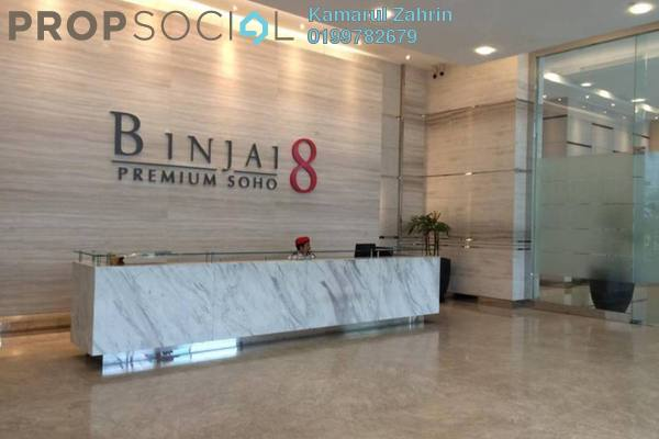 For Rent Condominium at Binjai 8, KLCC Freehold Fully Furnished 0R/1B 2.5k