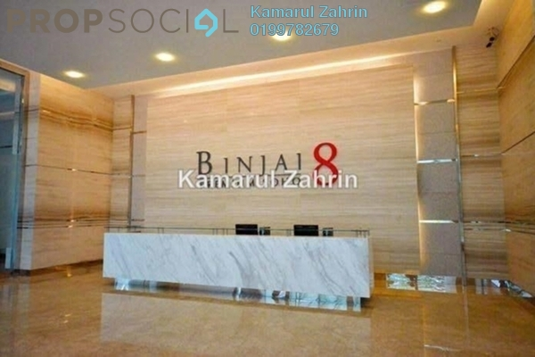 For Rent Condominium at Binjai 8, KLCC Freehold Fully Furnished 2R/1B 3.4k