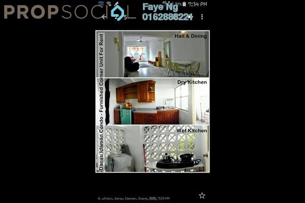 For Rent Condominium at Danau Idaman, Taman Desa Leasehold Fully Furnished 3R/2B 1.6k