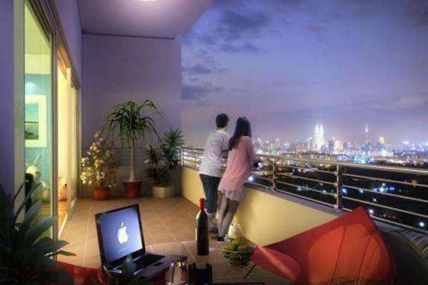 For Rent Condominium at Bayu @ Pandan Jaya, Pandan Indah Leasehold Semi Furnished 3R/2B 1.8k