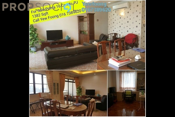 For Sale Condominium at Prima 16, Petaling Jaya Freehold Fully Furnished 3R/3B 855k