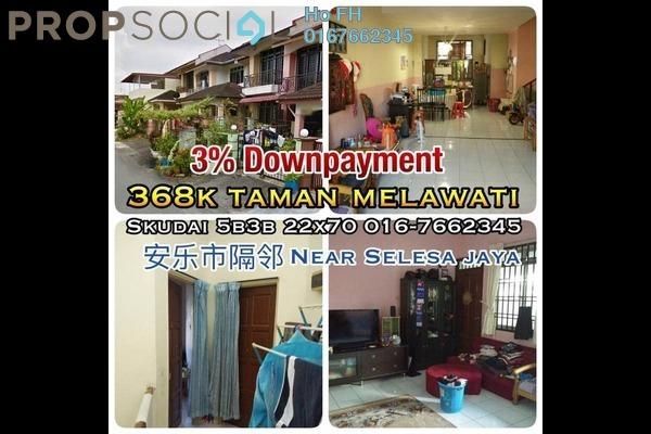 For Sale Terrace at Taman Selesa Jaya, Skudai Freehold Semi Furnished 5R/3B 368k