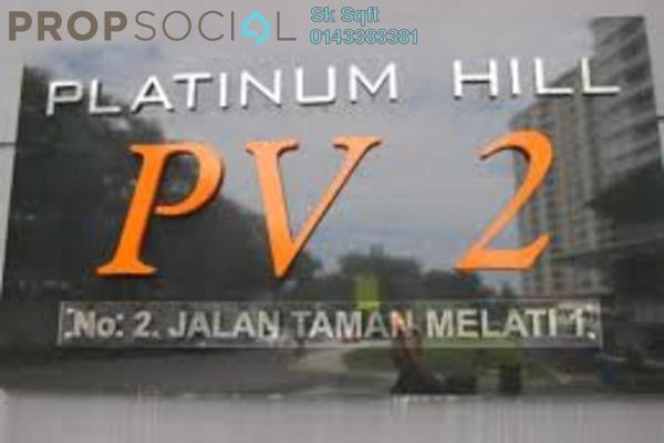 For Rent Condominium at Platinum Hill PV2, Setapak Freehold Fully Furnished 3R/2B 2.7k