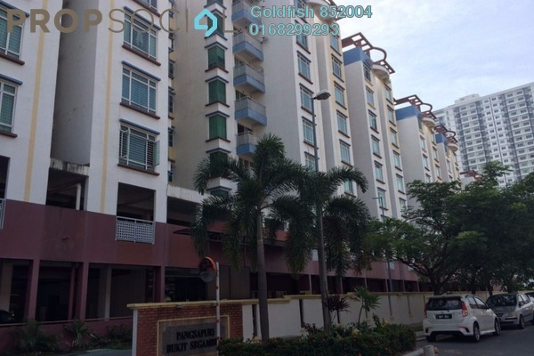 For Sale Apartment at Taman Seri Bukit Segambut, Segambut Freehold Semi Furnished 3R/2B 430k