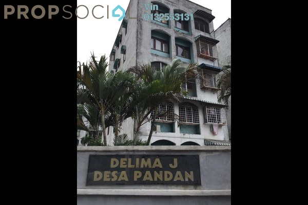 For Sale Apartment at Delima Apartment, Desa Pandan Leasehold Semi Furnished 3R/2B 430k