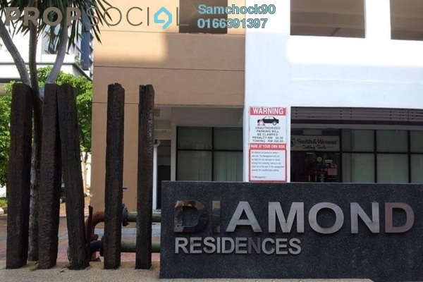 For Sale Condominium at Diamond Residences, Setapak Freehold Fully Furnished 4R/3B 460.0千
