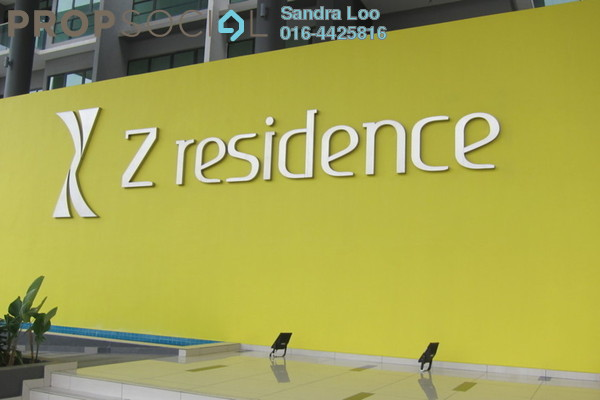 For Rent Condominium at The Z Residence, Bukit Jalil Freehold Fully Furnished 2R/2B 1.8k