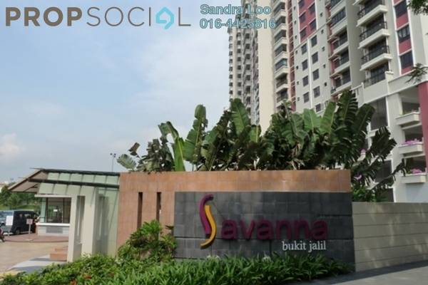 For Rent Condominium at Savanna 1, Bukit Jalil Freehold Fully Furnished 3R/2B 3.0千