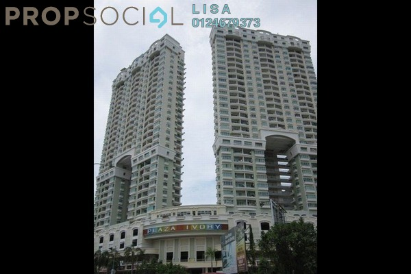 For Rent Condominium at Plaza Ivory, Bukit Gambier Freehold Fully Furnished 3R/2B 1.4k