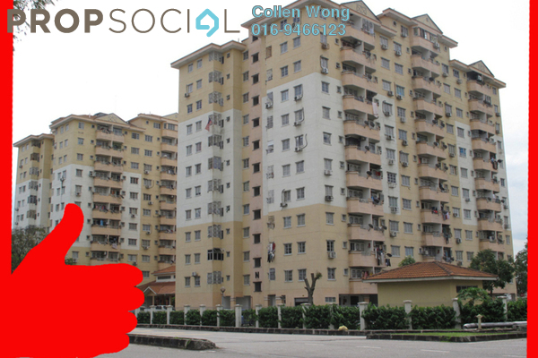 For Sale Apartment at USJ 1, UEP Subang Jaya Leasehold Semi Furnished 3R/2B 380k