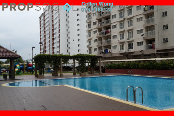 For Sale Condominium at Cahaya Permai, Bandar Putra Permai Leasehold Semi Furnished 3R/2B 320k