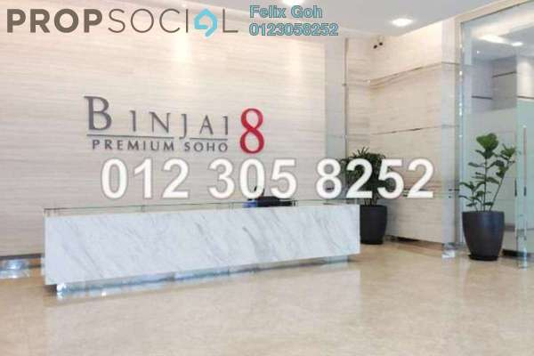 For Sale Condominium at Binjai 8, KLCC Freehold Unfurnished 1R/2B 904k