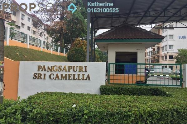 For Rent Apartment at Sri Camellia Apartment, Bandar Puteri Puchong Freehold Semi Furnished 3R/2B 1.3k