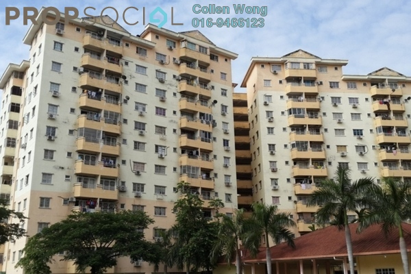 For Rent Apartment at USJ 1, UEP Subang Jaya Leasehold Unfurnished 3R/2B 1.2k