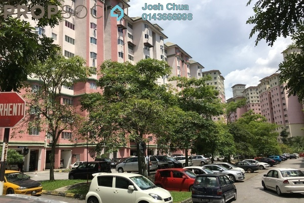For Sale Apartment at Tasik Heights Apartment, Bandar Tasik Selatan Freehold Semi Furnished 4R/2B 400.0千