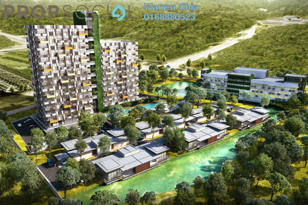 For Sale Apartment at Eden-on-the-Park, Kuching Freehold Fully Furnished 2R/2B 788k