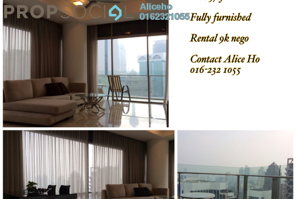 For Rent Serviced Residence at Pavilion Residences, Bukit Bintang Freehold Fully Furnished 2R/2B 8.5k
