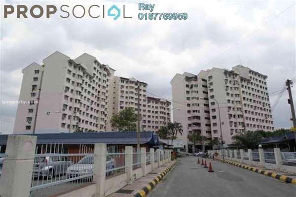For Rent Condominium at Sri Sabah Apartment, Cheras Freehold Semi Furnished 3R/1B 1.1k
