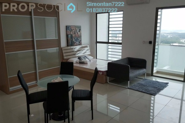 For Rent SoHo/Studio at CyberSquare, Cyberjaya Freehold Fully Furnished 0R/1B 1.4k