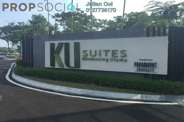 For Sale Apartment at KU Suites, Kemuning Utama Freehold Semi Furnished 3R/2B 640k