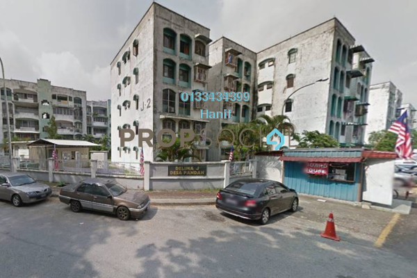 For Sale Apartment at Delima Apartment, Desa Pandan Leasehold Semi Furnished 3R/2B 410.0千