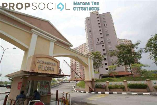 For Sale Apartment at Desaminium Flora, Bandar Putra Permai Freehold Unfurnished 3R/2B 245k