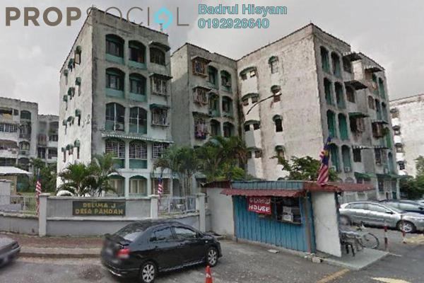 For Sale Apartment at Delima Apartment, Desa Pandan Freehold Fully Furnished 3R/2B 405.0千