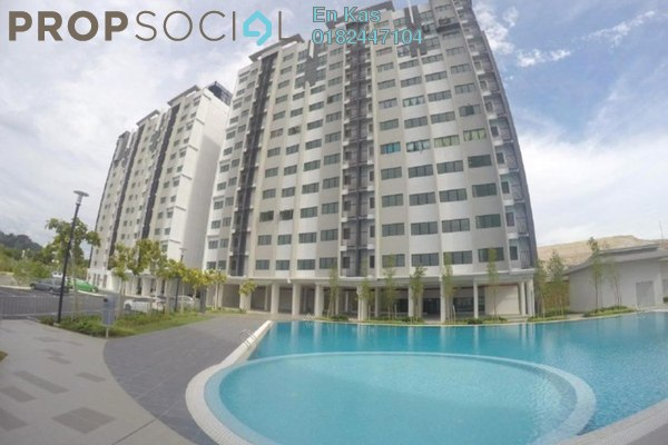 For Sale Apartment at Suria Ixora, Setia Alam Freehold Semi Furnished 3R/2B 285k