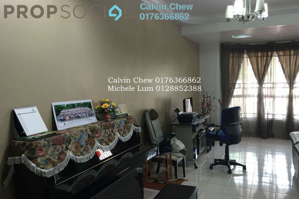 For Sale Terrace at Taman Megah, Kepong Freehold Semi Furnished 4R/3B 1.1m