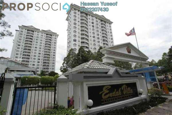 For Sale Condominium at Endah Villa, Sri Petaling Freehold Semi Furnished 3R/2B 480k