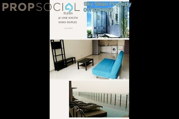 For Rent SoHo/Studio at Flexis @ One South, Seri Kembangan Freehold Semi Furnished 2R/2B 2.4k
