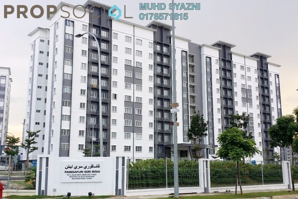 For Rent Apartment at Seri Intan Apartment, Setia Alam Freehold Unfurnished 3R/2B 800translationmissing:en.pricing.unit