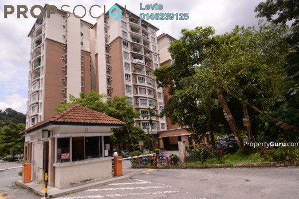 For Rent Condominium at Tiara Intan, Ampang Freehold Semi Furnished 3R/2B 1.9k