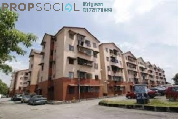 For Rent Condominium at Melur Apartment, Sentul Leasehold Semi Furnished 3R/2B 1.4k