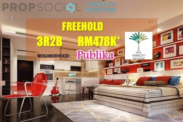 For Sale Condominium at Bangsar Peak, Bangsar Freehold Unfurnished 3R/2B 478k