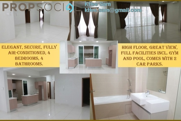 For Rent Condominium at Royal Regent, Dutamas Freehold Semi Furnished 3R/4B 3.2k