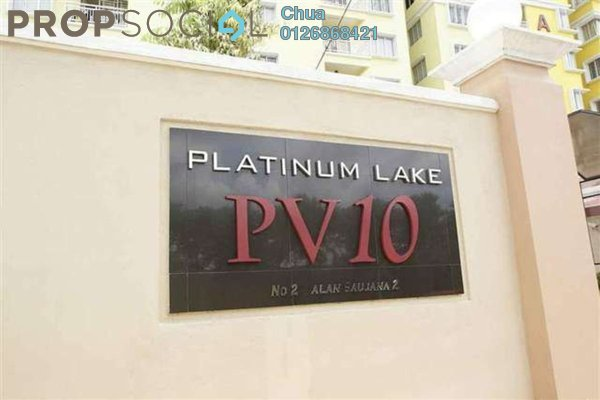 For Rent Condominium at Platinum Lake PV10, Setapak Leasehold Fully Furnished 3R/2B 1.8k