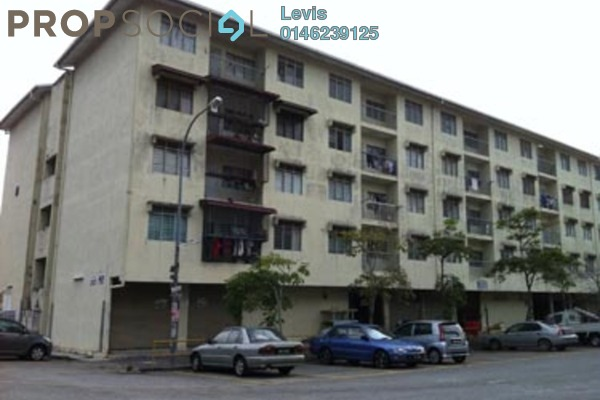 For Rent Apartment at Dahlia Apartment, Pandan Indah Leasehold Semi Furnished 3R/2B 1.1k