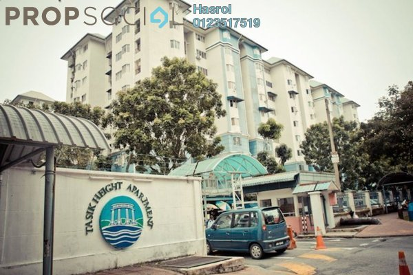 For Rent Apartment at Tasik Heights Apartment, Bandar Tasik Selatan Leasehold Semi Furnished 3R/3B 1.4k