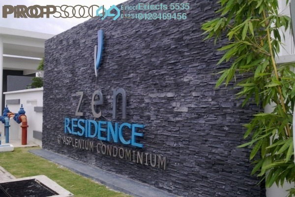 For Rent Condominium at Zen Residence, Puchong Leasehold Semi Furnished 3R/2B 2k